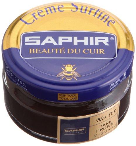 (Saphir Creme Surfine - Jar - 50 Ml - Made in France (Dark)