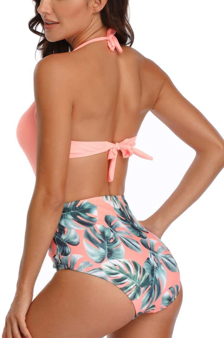 Chaos World Donna Costume de Bagno Intero Bikini Imbottitura Scollo a V Asimmetrico Beachwear