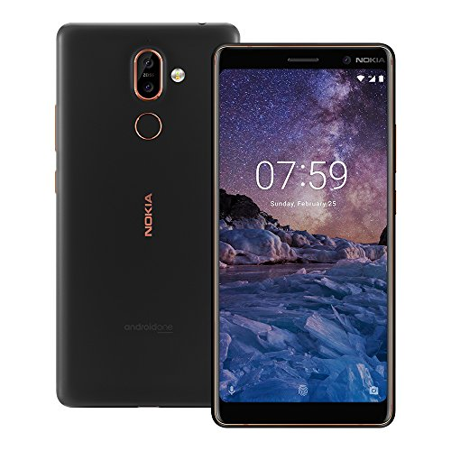 "Nokia 7 Plus TA-1062 64GB Black Copper, Dual Sim, 6"", 4RAM, GSM Unlocked International Model, No Warranty"