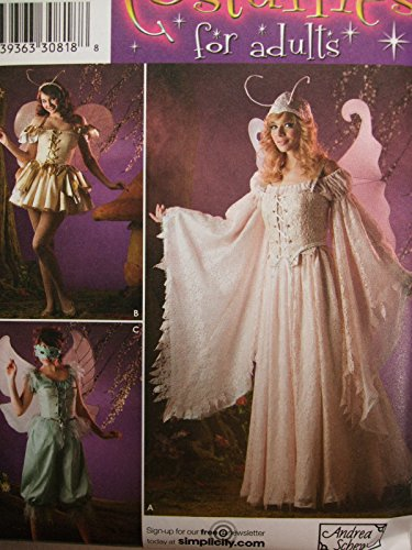 Costume Pattern Fairy (Simplicity Sewing Pattern 3675 Women's Costumes Fairy Princess Size)