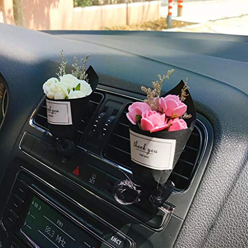 zzpopGG Car Clip,Car air Outlet freshener,Aromatherapy Clip,Beautiful Dry Flower Car Air Vent Freshener Perfume Aroma Clip Diffuser Decor - -