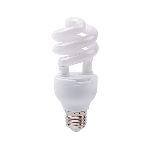 Aprettysunny Reptile UVB 13W Light E27 Bombilla Calentador Grow Lagarto de Calcio Lagartija Dragon Lamp