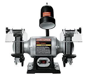 Craftsman 9-21124 1/6 Horsepower 6-Inch Bench Grinder with Lamp by Builders World Wholesale Distribution