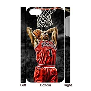 Derrick Rose Personalized 3D Case for Iphone 4,4S, 3D Customized Derrick Rose Case