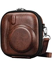 Fintie Protective Case for Fujifilm Instax Mini 11/ 9/ 8/ 7+/ 7s/ 40/ 90/ 70/ 25/ 26 Instant Camera - Hard EVA Shockproof Carry Travel Bag with Removable Strap, Vintage Brown, Fintie