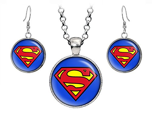 DC+Comics Products : Classic Superman Necklace, Justice League Pendant, Man of Steel Earrings, Suicide Squad The Dark Knight Pendant, DC Comics Jewelry, Wedding Party, Geek Gift Geeky Gifts Nerd Nerdy Presents