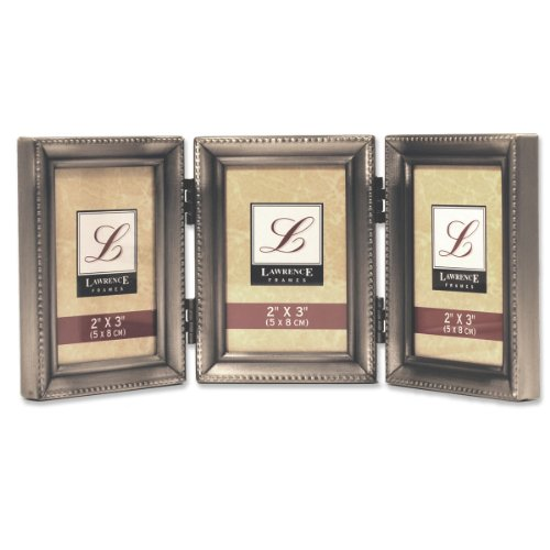 lawrence-frames-antique-pewter-hinged-triple-2x3-picture-frame-beaded-edge-design