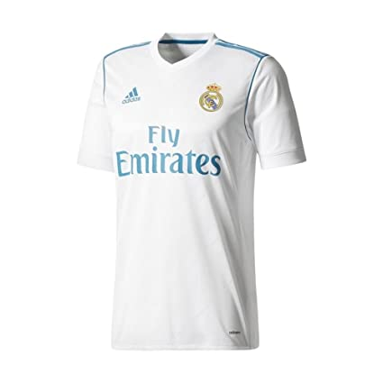 618d4453ef32c Amazon.com : adidas Real Madrid CF Home Authentic Jersey [White ...