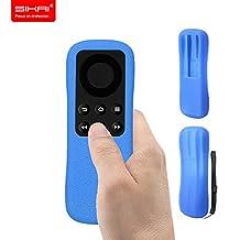 New Amazon Fire TV Stick Remote Case SIKAI® Patent Amazon Fire TV Stick Remote Silicone Case for Amazon Fire TV Stick Remote Protector Case with Hand Strap Included (Standard Remote, Blue)