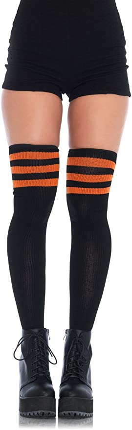 Uridy Leopard Womens Knee High Socks Classic Running Sports Bas de cuisse Custume Crazy Socks