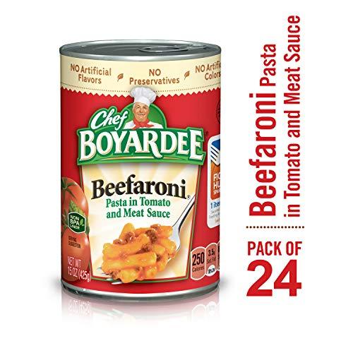- Chef Boyardee Beefaroni, 15 oz, 24 Pack