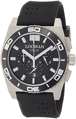LOCMAN watch stealth Mare quartz chronograph rotating bezel Men's 0212 021200KA-BKKSIK Men's [regular imported goods]