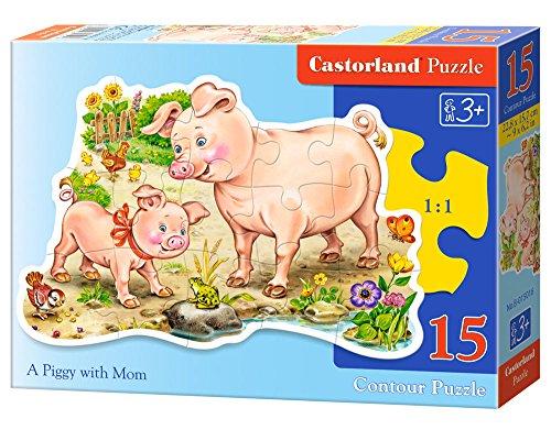 Castorland A Piggy with Mom Jigsaw Midi (15-Piece)