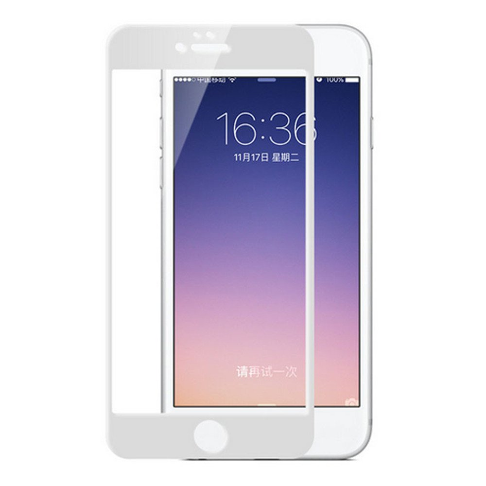 Screen Protectors for iPhone7/8 Tempered Glass 6D 9H Hardness Full Screen Coverage Bubble-Free/Anti-Scratch/High Definition Apple iPhone Screen Protector(1pack) (White)
