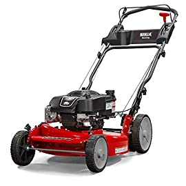 Snapper RP2185020 / 7800981 NINJA 190cc 3-N-1 Rear Wheel Drive Variable Speed Self-Propelled Lawn Mower with 21-Inch Deck and ReadyStart System, Ninja Mulching Blade and 7 Position Heigh-of-Cut 6 Briggs & Stratton 850 professional Series engine with ready start starting system no priming, no choking. Just pull and go Rear wheel drive improves walk behind mower traction and the smooth turn differential helps ensure easy maneuverability without damaging your grass Ninja blade features 6 powerful cutting surfaces to finely mulch your grass while the deck design blows them back into the lawn