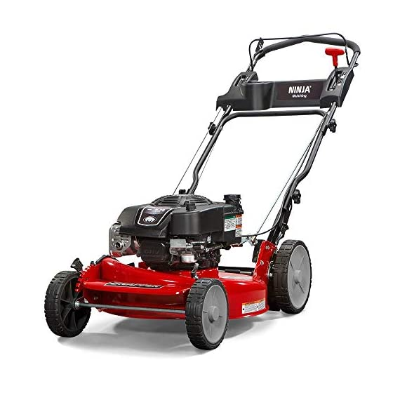 """Snapper RP2185020 / 7800981 NINJA 190cc 3-N-1 Rear Wheel Drive Variable Speed Self-Propelled Lawn Mower with 21-Inch Deck and Ready Start System, Ninja Mulching Blade and 7 Position Heigh-of-Cut 1 <p>Snapper RP2185020 NINJA Series Lawn Mower. Best mower for mulching fans, the Snapper Ninja walk-behind lawn mower's powerful blade with 6 cutting surfaces finely mulches grass clippings while the deck blows them back into your yard. This Snapper 21"""" lawn mower features a rear wheel drive system with high 10"""" rear wheels for superior traction on hills & thick grass. The reliable Briggs & Stratton professional series OHV engine keeps you going with professional-grade features from ready start technology to quieter operation & increased durability. Briggs & Stratton 850 professional Series engine with ready start starting system no priming, no choking. Just pull and go Rear wheel drive improves walk behind mower traction and the smooth turn differential helps ensure easy maneuverability without damaging your grass Ninja blade features 6 powerful cutting surfaces to finely mulch your grass while the deck design blows them back into the lawn Rugged solid Steel front Axle and stamped Steel mower deck provides long lasting performance season after season Easily change the height of cut with the easy to use adjustment handles (7 height of cut adjustments from 1.25 Inch to 4 inch)</p>"""
