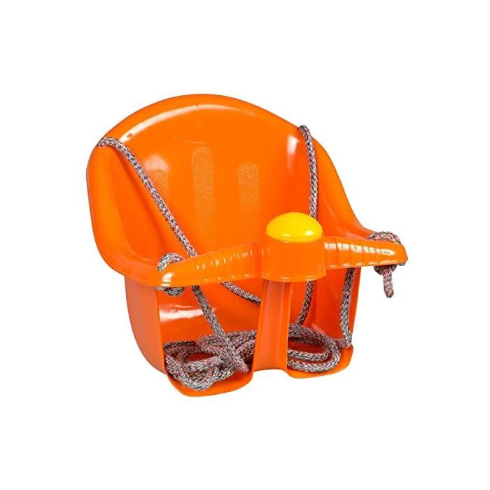 51pFEB5 cRL El asiento es fácil de instalar, suspendido por cuerda resistente Viene con un cuerno de plástico en la parte delantera Tiene una parte superior más alta para el apoyo