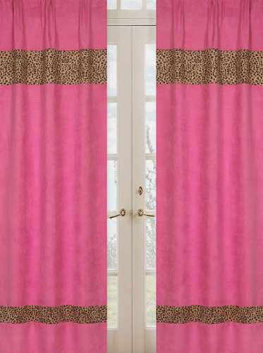 Sweet Jojo Designs 2-Piece Cheetah Girl Pink and Brown Window Treatment Panels Review