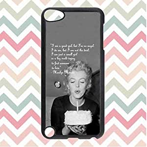 Ipod Touch 5 Generation Case- Marilyn Monroe Quote Fashionable Patr¨®n Back Funda Carcasa Case For Ipod Touch 5th