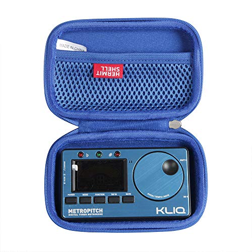Hermitshell Hard Travel Case for KLIQ MetroPitch - Metronome Tuner (Blue)