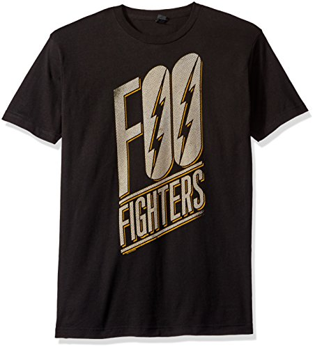 - FEA Men's Foo Fighters Slanted Logo Mens Soft T-Shirt, Black, XX-Large