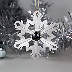 Snowflake Ornament, Black Onyx