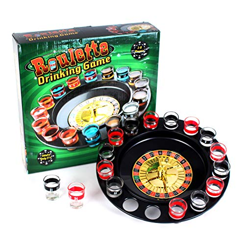 - Kicko 13 Inch Spin and Shot Roulette - Casino-Style Drinking Game Set - Great Party Amusement, Night Entertainment, Reunions, Birthday Bashes, Holidays, Novelty Toy, Party Favor