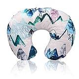 Minky Nursing Cover | Nursing Pillow Cover | Mountain Print Cover | Plush Breastfeeding Pillow Slipcover | Soft Fabric Fits Snug On Infant