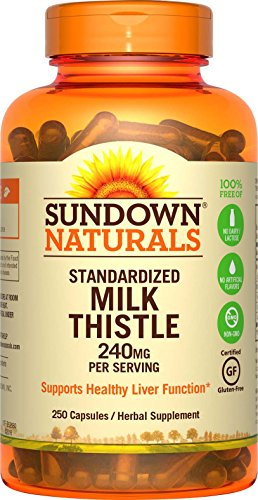 - Sundown Naturals Milk Thistle XTRA 240 mg, 250 Capsules