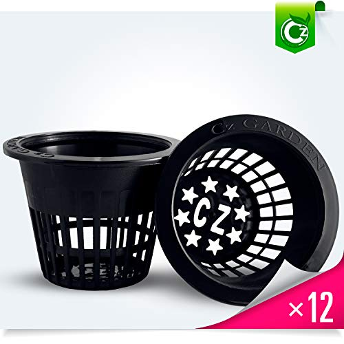 3 inch Net Pots Cz All Star Round Heavy Duty Cups Wide Lip Design - Orchids • Hydroponics Kratky Wide Mouth Mason Jars Slotted Mesh