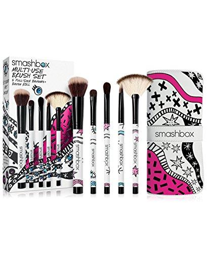 Smashbox Blush Brush - Smashbox Multi-Use Brush Set (5 Full-Size Brushes + Brush Roll