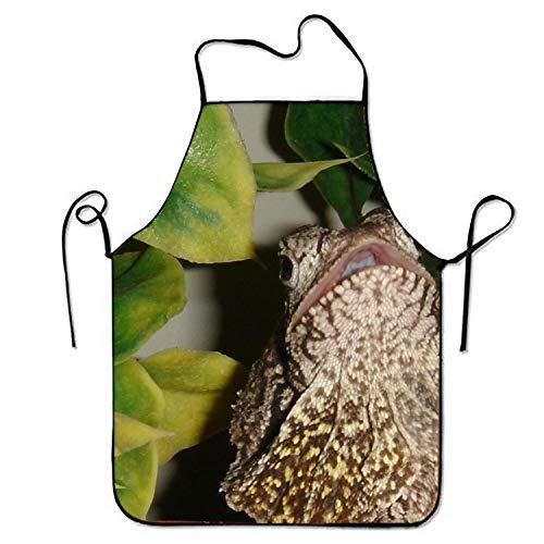 - Animal Frilled Neck Lizard Stylist Bib Apron Adult Women Unisex Durable Comfortable Washable for Cooking Baking Kitchen Restaurant