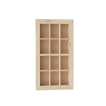 Gazechimp Miniature Cadre De Fenêtre En Bois Pour Maison De Poupée