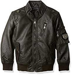 Urban Republic Big Boys\' Aviator Jacket, Dark Charcoal, 8