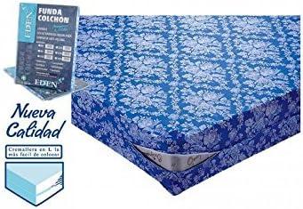 REGALITOSTV Funda COLCHÓN Adaptable Transpirable, Sanitario, Fabricado ESPAÑA (Funda Azul 150_x_200_cm): Amazon.es: Hogar