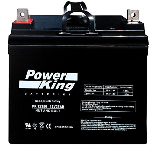 AGM Battery 12 Volt 35AH Marine Deep Cycle, 300 CCA HI Performance Battery Ideal For Boats and 18-35lb Minn Kota, Cobra, Sevylor and Other Trolling Motors (12V 35AH, GROUP U1) Beiter DC Power