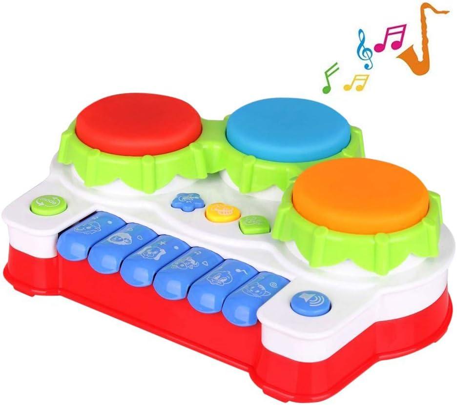 TINOTEEN Juguete Bebés para Niños Pequeños, Piano y Tambore Musicales Juguetes para Infantil
