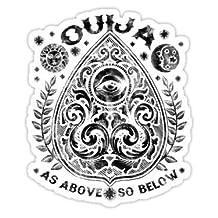 "Clear sticker "" Victorian OUIJA Planchette"" By August"