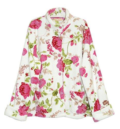 [해외]라 세라 여성용 플로랄 마이크로 플리스 자켓/La Cera Women`s Floral Microfleece Bed Jacket