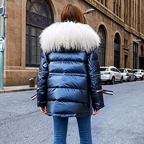 mouton femmes coton fourrure femme bleu Manteaux en coupe tendance longue doudoune 6dRqqaH