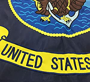 c4091710234 ... Winbee US Navy Flag 3x5 Ft - Double Sided Embroidered