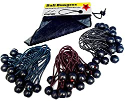 Premium Ball Bungee Cords, Quality 60 Pack of 3 Sizes Tarp & Canopy Shock Cords. Black UV Treated Cord with Color Fleck to Indicate Size. New Zealand Made giving You the Best New Ball Bungee