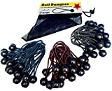 Premium Ball Bungee Cords, Quality 60 Pack of 3