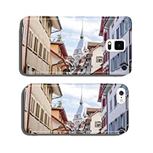 City train, Zug's Old Town, Old Town houses, Zytturm, Switzerland cell phone cover case Samsung S5