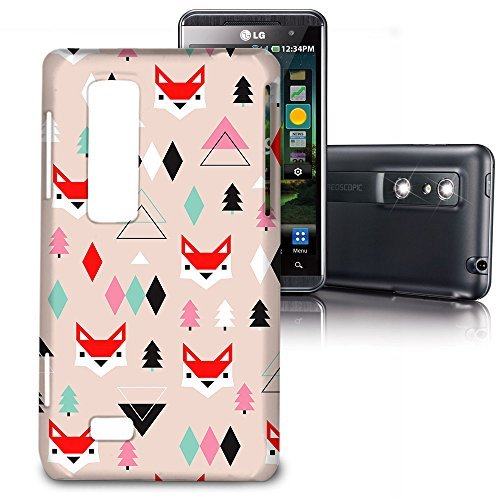 Phone Case For LG Optimus 3D P920 / Thrill 4G P925 - Fox Geometric Winter Lightweight Slim (Lg P920 3d)
