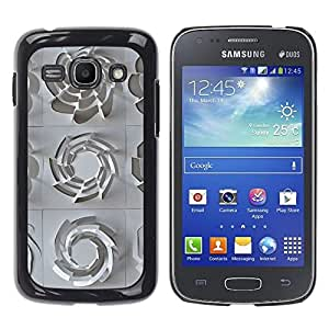 iKiki Tech / Estuche rígido - 3D Pattern Art White Clean Plastic - Samsung Galaxy Ace 3 GT-S7270 GT-S7275 GT-S7272