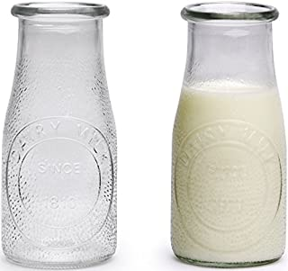 Circleware 69009 Hammered Milk Bottles Set of 6, 16 oz Glasses Glassware for Water, Juice, Beer, Wine, Liquor, Kombucha Iced Tea Punch & Cold Drinks, 6pc, Sunrise Farm (B018UKXCIS) | Amazon price tracker / tracking, Amazon price history charts, Amazon price watches, Amazon price drop alerts