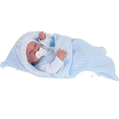 Muñecas Antonio Juan - Muñeca recién Nacido con Saco, Color Azul (5065)