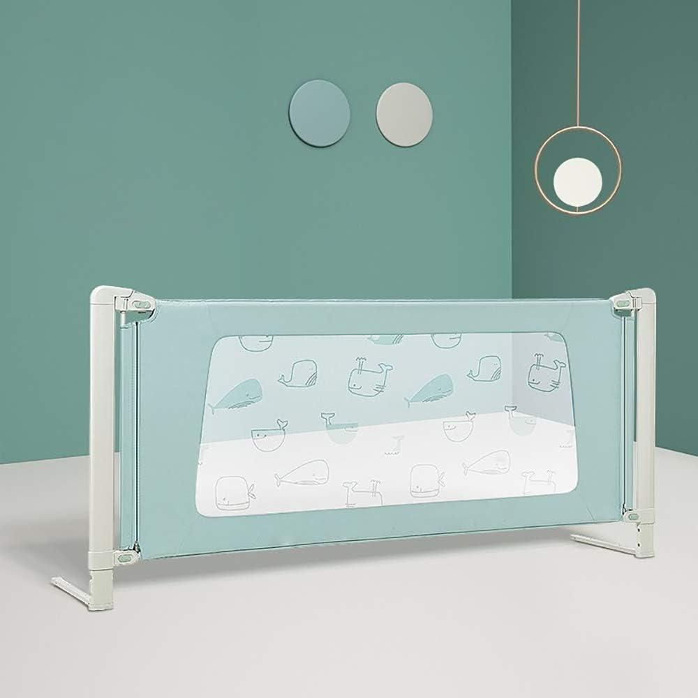 ベッドフェンス ベッドRailsの赤ちゃんドロッププルーフガードレールユニバーサル垂直リフト子供ベゼルフェンス調整ガードレールの1pcs (色 : 緑, サイズ : 150cm)