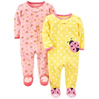 Just Born Baby Girls' Madeline Gown and Hat Sleep Set, Pink and White Floral,...